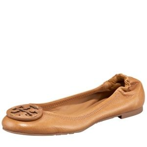 Tory Burch Reva Logo Ballerina Flat Royal Tan 9